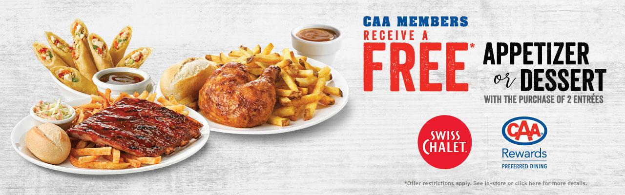 FREE appetizer or dessert!