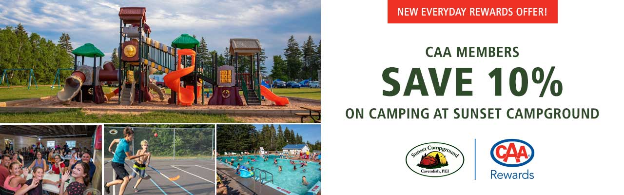 Members SAVE 10% on camping