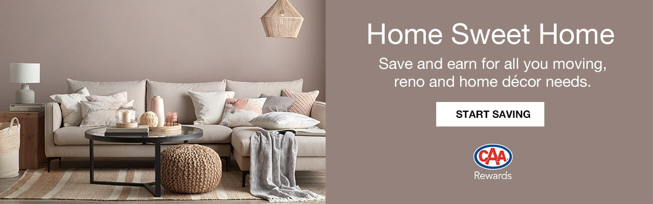 CAA Members save on Home Essentials from moving to decorating
