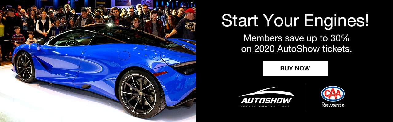 Buy your tickets online and save up to 30% on 2020 AutoShow tickets.