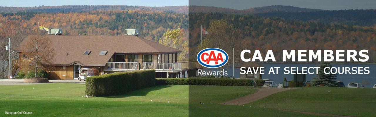 CAA Members save $5.00 on regular priced green fees.