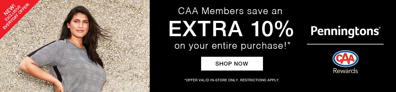 CAA Members save 10%!