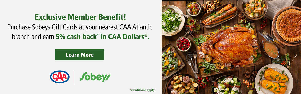 CAA Members SAVE in-store on travel, luggage, merchandise and more. CAA Members earn CAA Dollars on prepaid gift cards.
