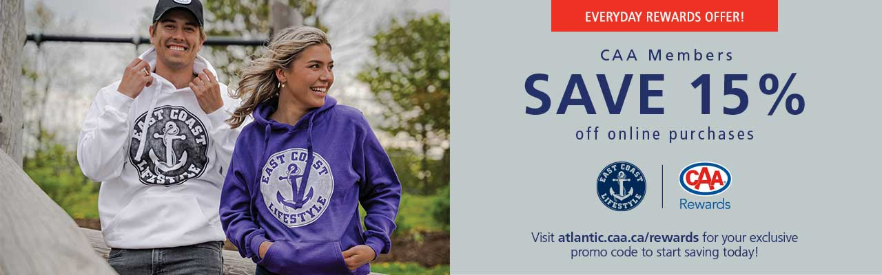 SAVE 15% off purchases online with promo code - CAA15