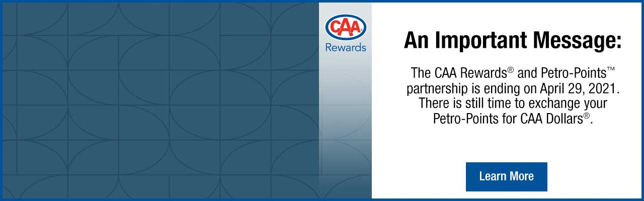 Exchange your Petro-Points online for CAA Dollars.