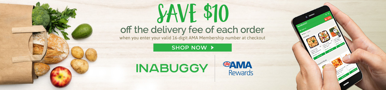 Save $10 off the delivery fee on your order. Enter your CAA Membership number at checkout.