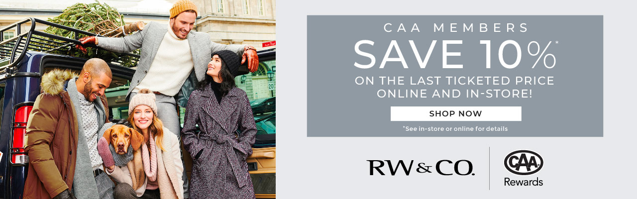 CAA Members save 10%* online and in-store!