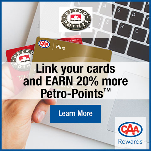 Link your cards to earn 20% Petro-Points